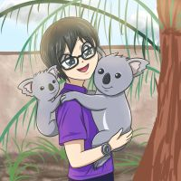 OC with koala. by sumin6301