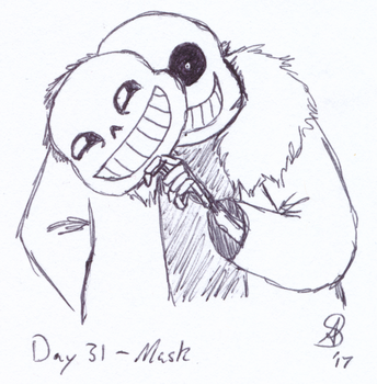 Inktober 2017 Day 31 - Mask by AnotherDemon