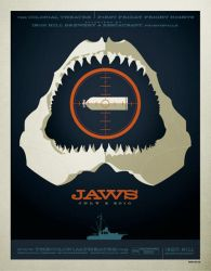 jaws poster by strongstuff