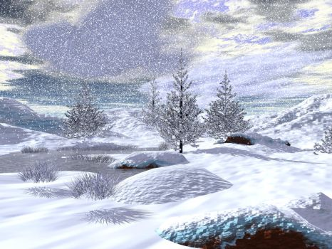 Winter Background 2 by shd-stock