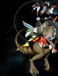 Dinosaurs in Space! by Kosumonauto