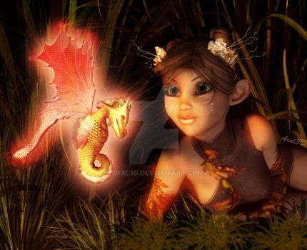 Jinkie and her discover by Aral3D