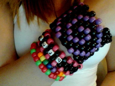 KANDI CUFF and others by lollixXxbopper