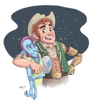 Cowboys and Aliens by chill13