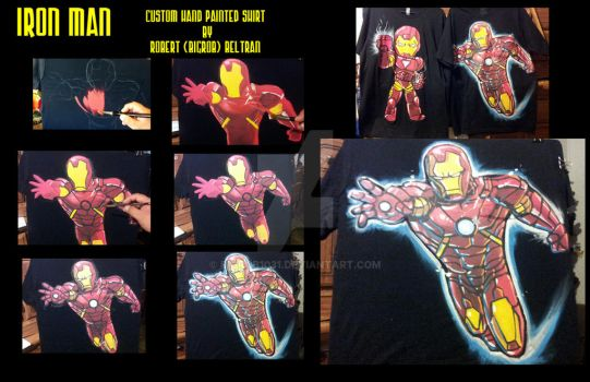 Iron man custom t shirt by BigRob1031
