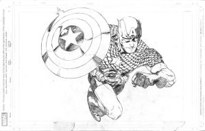 Captain America 1, pencils by JulienHB