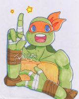 Tmnt Copic Mikey by JohnYume