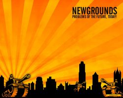 Newgrounds Wallpaper by QuikFox