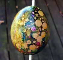 Hand Painted Egg Ornament 1 by MandarinMoon