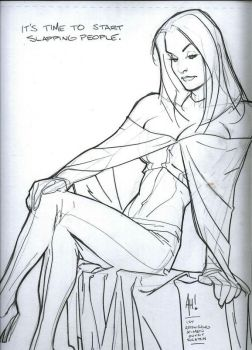 Adam Hughes Emma Frost Commission by DeanSummers1