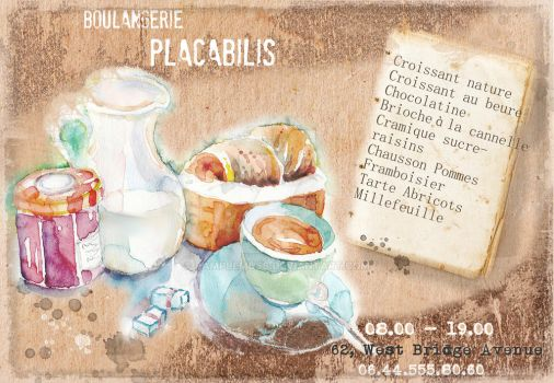 Flyer for a pastry cafe with watercolor by Pamplemuss