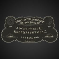 Winchester Brothers Ouija Board by LiquidSoulDesign