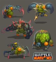 Battle Nations Infected Concepts 2013 by Nerd-Scribbles