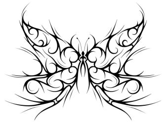 Tribal butterfly by Forace