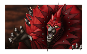 Ommadon - The Evil Red Wizard by paulrich