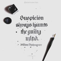 William Shakespeare - Quote Calligraphy by WhiteSylver