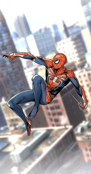 Insomniac Spidey Wallpaper by LulisLuc