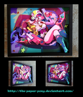 Commission: Arcade Miss Fortune Shadowbox by The-Paper-Pony