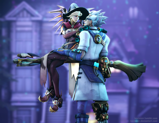OW | Witch and Junkenstein by karinscr