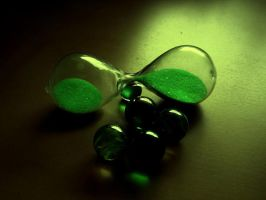 Time within a green hourglass by Chanteur-de-Vent