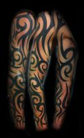 Tribal sleeve by WildThingsTattoo
