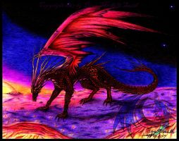 Sunset Dragon by CryoftheBeast