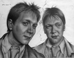 Weasley Twins by AnnieLouise55