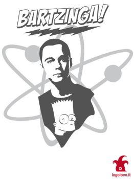 sheldon cooper and bart simpson: big bang theory by logolocoadv