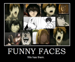 Death Note Funny faces by 2sad2smile000
