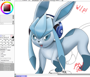 Commission - Glaceon by RGXSuperSonic