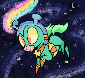 MS Paint Space Unicorn by PokeySmokey