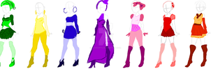 Rainbow outfit adopts 15 points each by EriAdopts