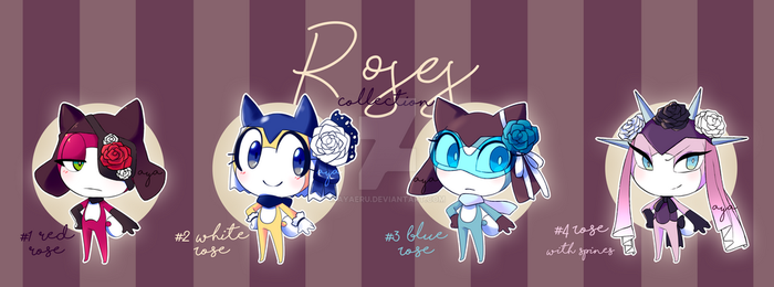 Adoptable collection: Roses [OPEN] by Ayaeru