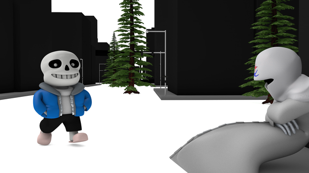 Sans Meets the C4DNerd by TheRPGPlayer