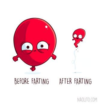 Before After Farting by Naolito