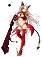 Queen Aldra Full Body Queen's Blade Render by Elpida-Wood
