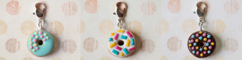 Donut charms by Panna-Kot
