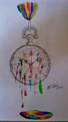 The time waits for no one by Kunst-Leben