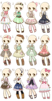 Loli Dresses Adopts 2 :CLOSED: by Nuggiez
