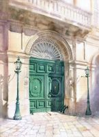 Emerald door by GreeGW