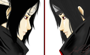 Sasuke vs. Itachi by pinkxfuzziexkitties