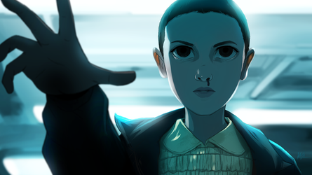 Eleven- Stranger Things by KalaSketch