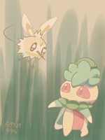 Cutiefly and Fomantis