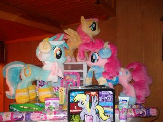 My MLP:FIM Collection On Top Of My Fridge by PoNyePiC