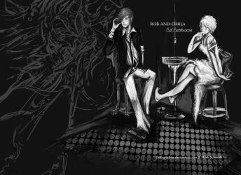 Red RendezVous-Black and White by Ish-GYAKISA
