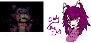 Cindy the cat (gijinka) Five Nights at Candy's by mangakitsune2