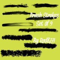 Brush Stroke Brushes by red8771