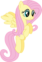 Just Fluttershy flying around by Schmuzart