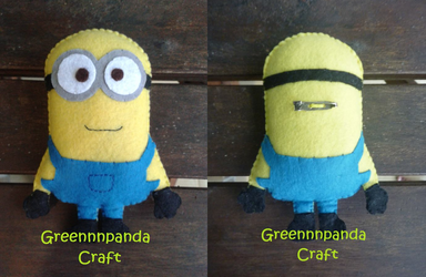 Despicable Me Minion Plushie by greennnpandacraft