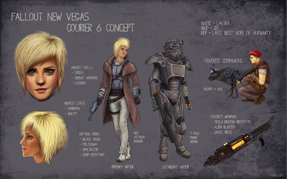 Fallout - FemCourier Concept by velocitti